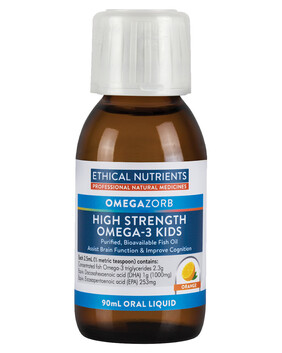 Hi Strength Liquid Fish Oil for Kids - Orange